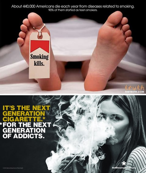 Anti-Vaping; Anti-Smoking Ad