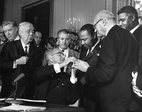 Johnson; King; Civil Rights Bill