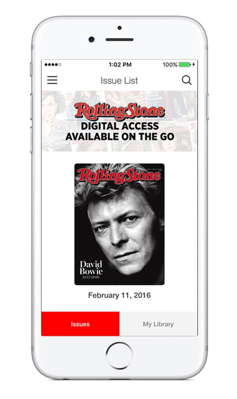 ROLLING Stone; App; Digital Access