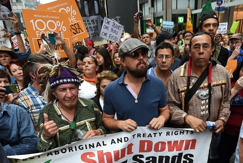 Leonardo DiCaprio; Climate March; 2014