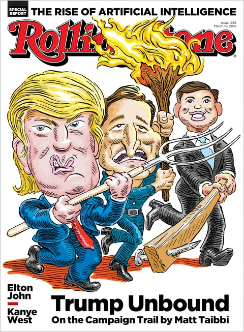 Trump; GOP Primaries; Cruz; Rubio; 2016; Rolling Stone Cover