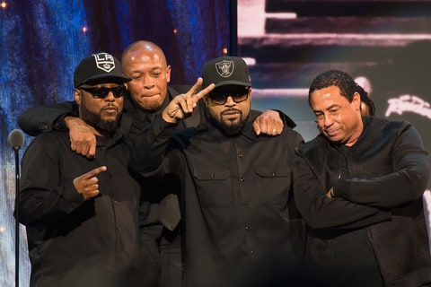 Ice Cube, MC Ren, Dr. Dre, DJ Yella; NWA; Rock and Roll Hall of Fame; HOF