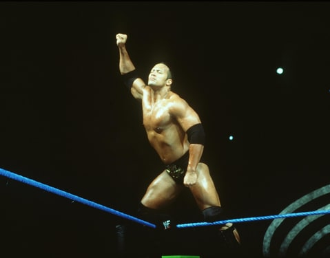 The Rock Dwayne Johnson Standing Top Rope Peoples Champion