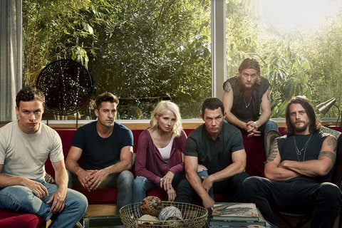 Animal Kingdom Cast Portrait Sitting Couch