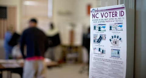 Voter ID Laws North Carolina Acceptable ID Shown