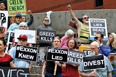 Exxon Protest Carbon emmisions Fossil Fuels Global Warming