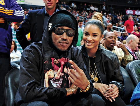 Future Ciara attend Basketball Game