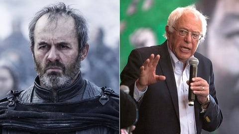 Game of Thrones Whos Who GOT Election Politics Bernie Sanders Stannis