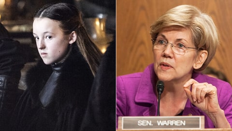 Game of Thrones Whos Who GOT Election Politics Lady Mormont Elizabeth Warren