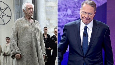 Game of Thrones Whos Who GOT Election Politics High Sparrow Wayne LaPierre NRA