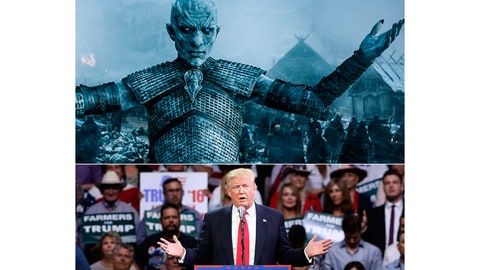 Game of Thrones Trump Night King Raises White Walkers Voters