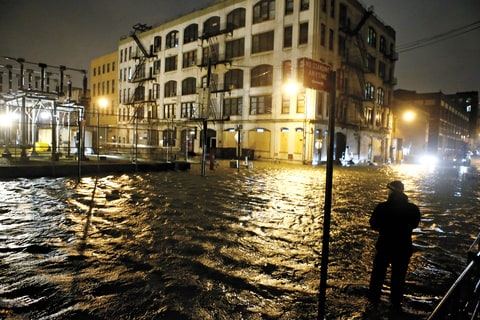 Sandy New York Flooding East Village
