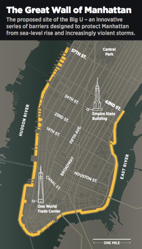 Big U Wall Sandy Flooding Map By John Grimwade