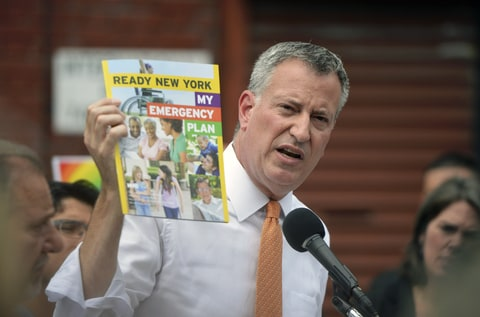 Bill De Blasio Hurricane Plan