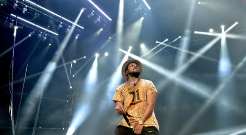 Schholboy Q, LOS ANGELES, CA - JUNE 27:  Hip hop artist Schoolboy Q performs onstage during the Ice Cube, Kendrick Lamar, Snoop Dogg, Schoolboy Q, Ab-Soul, Jay Rock concert at Staples Center on June 27, 2015 in Los Angeles, California.