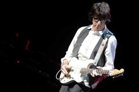Jeff Beck performs at Whitney Hall on May 12, 2015 in Louisville, Kentucky.