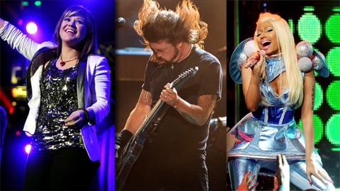 Kelly Clarkson, Foo Fighters, Nicki Minaj