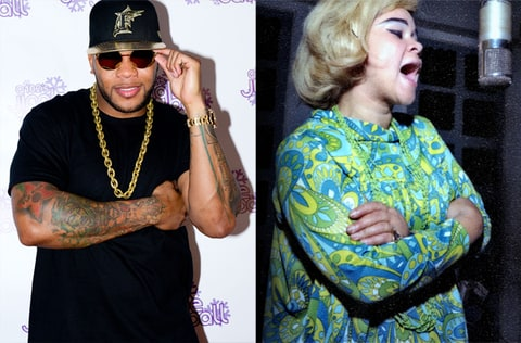 Flo Rida shares his thoughts on Etta James.