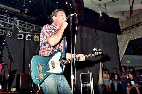 Mike Watt of Firehose performs during Rock for Choice at The Palladium in Hollywood.