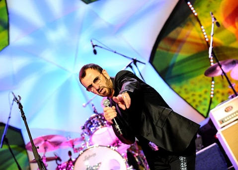 Ringo Starr and his All Starr Band perform at the Congress Center in Prague.
