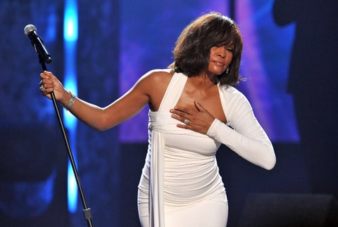 Whitney Houston onstage at the 2009 American Music Awards