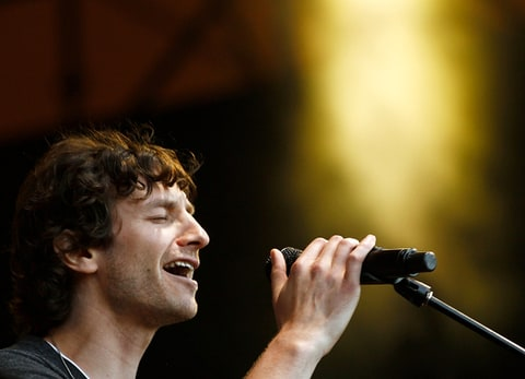 Gotye performs on stage during the Homebake Music Festival in Sydney, Australia.