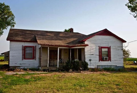 Johnny Cash's boyhood home in Dyess, Arkansas.