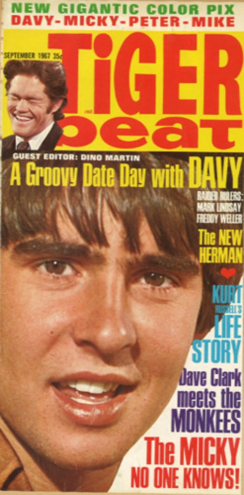'Win a Day with Davy Jones' in Tiger Beat Magazine, September, 1967