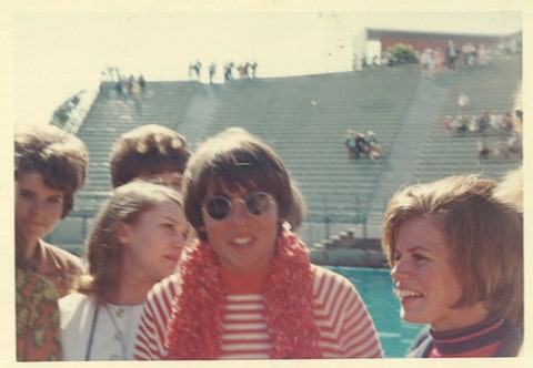 Davy Jones in 1967 greeting contest winners.