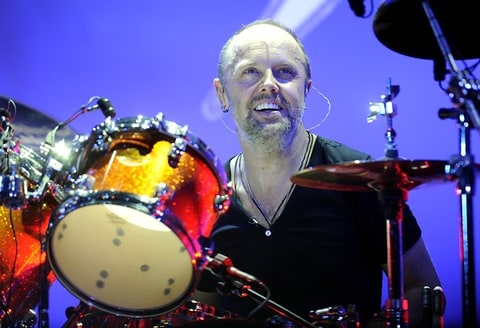 Lars Ulrich of Metallica performs at The Fillmore in San Francisco.