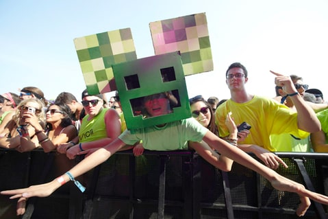 The fans at the Deadmau5 performance at Inaugural Veld Music Festival.
