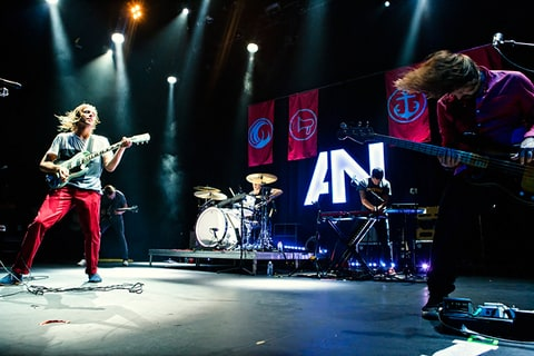 AWOLNATION perform at Club Nokia Live in Los Angeles.