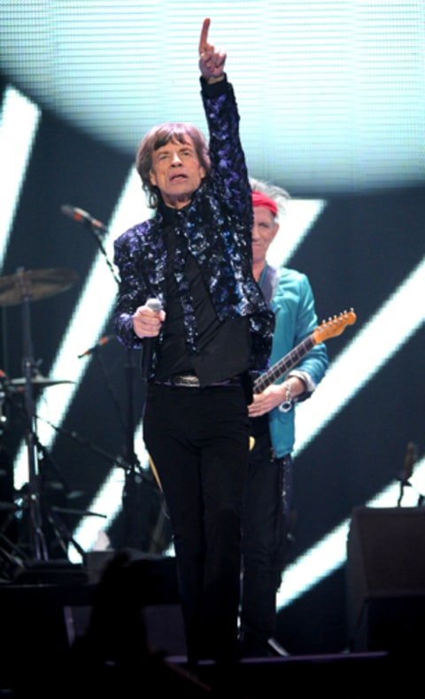 The Rolling Stones perform at Barclays Center of Brooklyn.