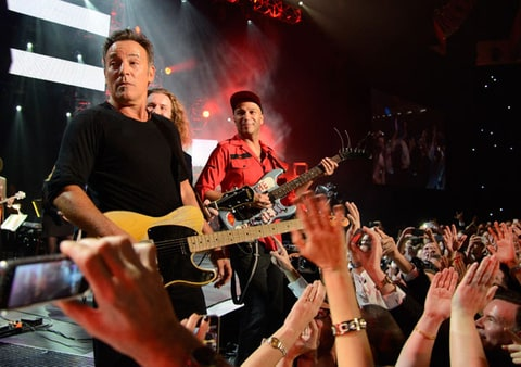 Bruce Springsteen and Tom Morello  perform onstage at MusiCares Person Of The Year Honoring Bruce Springsteen