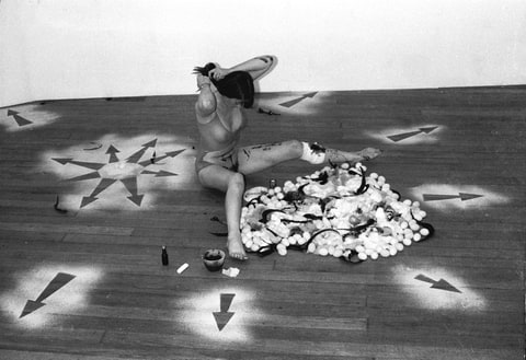 Woman's Roll art action, 1976