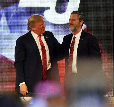 Donald Trump, Jerry Falwell Jr