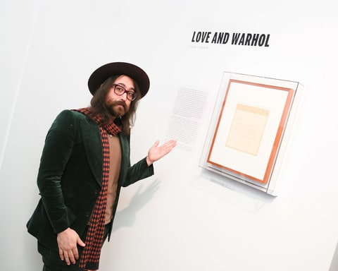 Sean Lennon, Andy Warhol, Sean Lennon Andy Warhol, Sean Lennon Andy Warhol tribute, Andy Warhol tribute, Andy Warhol exhibit, Letters to Andy Warhol