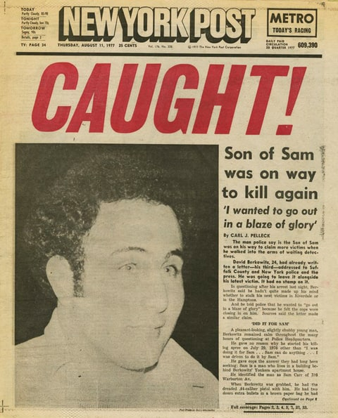 Image result for david berkowitz caught near new york