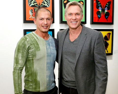 Sam Champion and artist