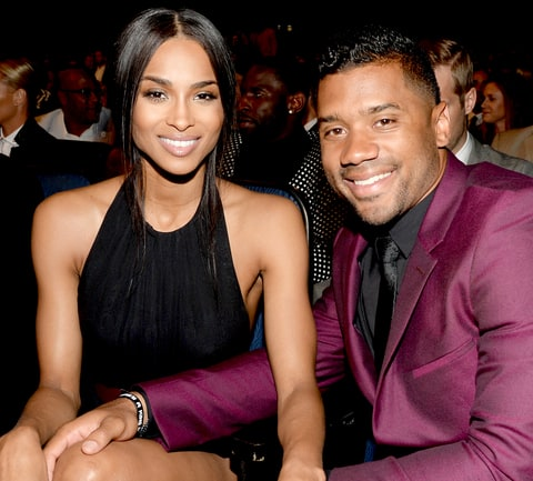 Ciara and NFL player Russell Wilson attend The 2015 ESPYS at Microsoft Theater on July 15, 2015.