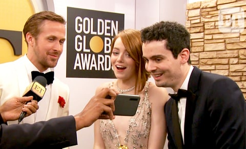 Ryan Gosling, Emma Stone and Damien Chazelle