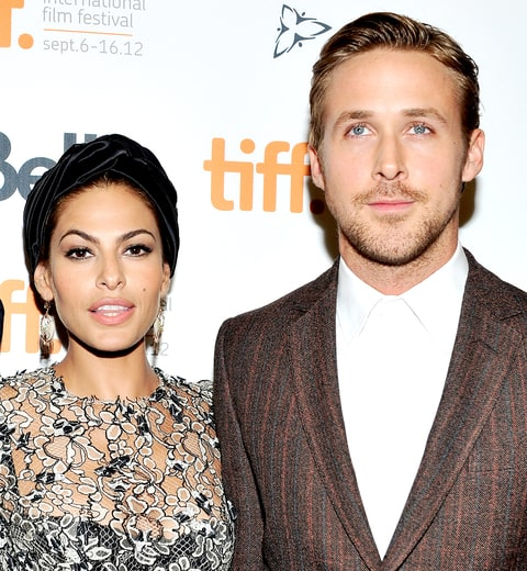 Eva Mendes and Ryan Gosling attend