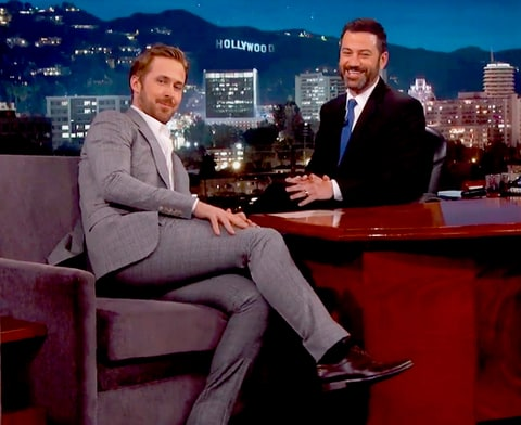 Ryan Gosling and Jimmy Kimmel