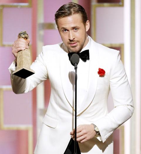 Resultado de imagem para Ryan Gosling golden globes 2017