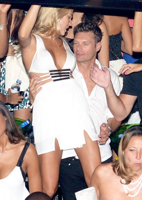 Ryan Seacrest and Shayna Taylor dirty dancing