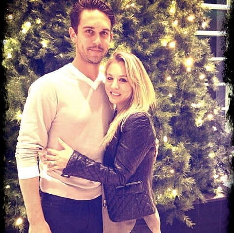 Ryan Sweeting and Kaley Cuoco - First Christmas