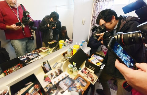 Journalists in the home of shooting suspect Syed Farook