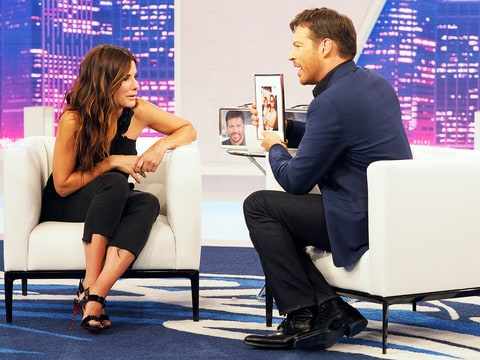 Sandra Bullock Talks Kids Louis Laila On Harry