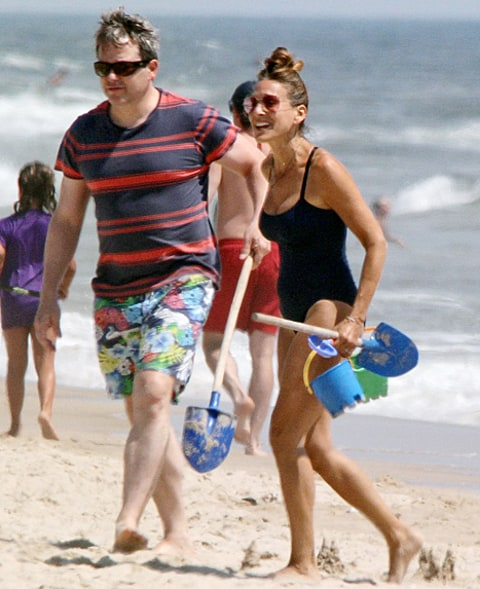 sjp and broderick at beach