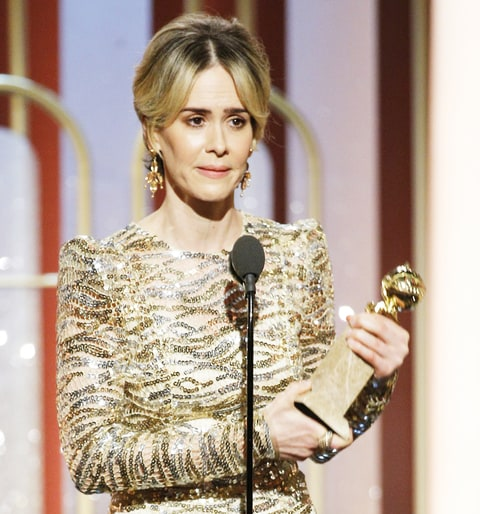 Sarah Paulson accepts her award for Best Actress in a Limited Series or Motion Picture Made for TV for her role in